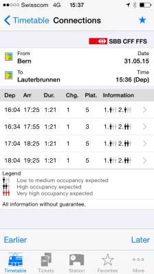 JAdual train and jangkamasa perjalanan dari satu stesen ke stesen berikutnya